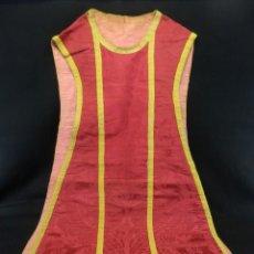 Antigüedades: T2 CASULLA DE SEDA Y ORO S XIX. Lote 106923107
