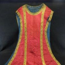 Antigüedades: T2 CASULLA DE SEDA Y ORO S XIX. Lote 106923147