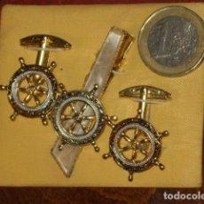 Antigüedades: ANTIGUOS GEMELOS DAMASQUINADOS O DAMASQUINO,TOLEDO.. Lote 106932663
