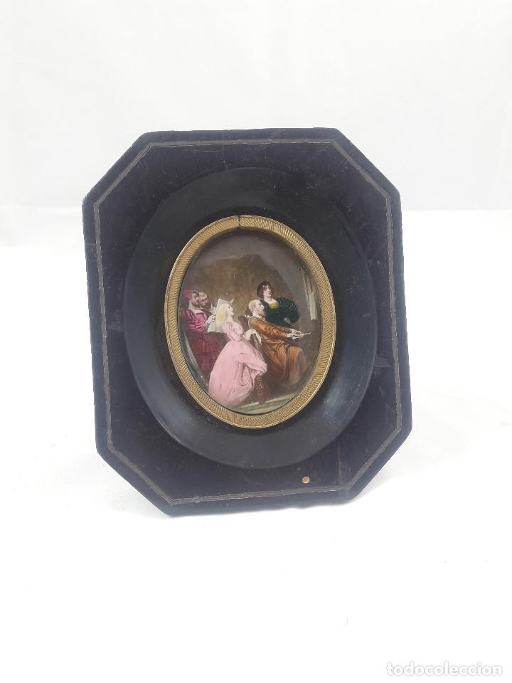 antiguo mini cuadro pequeño, estilo frances, cr - Comprar Marcos ...