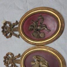 Antigüedades: PAREJA ANGELITOS MARCA GIORGIANO DI PONZANO. Lote 106941883