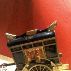Antigüedades: JOYERO MUSICAL CARRITO ORIENTAL AÑOS 70. Lote 106956372