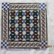Antigüedades: COMPOSICION DE AZULEJOS DE MENSAQUE (TRIANA). Lote 106960851
