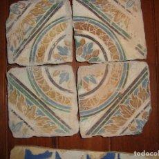 Antigüedades: COMPOSICION DE AZULEJOS DE TRIANA SIGLO XVI. Lote 106962047