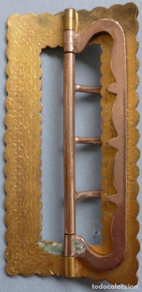 Antigüedades: ANTIGUA HEBILLA ART DECO - ESMALTE CLOISONNÉ PPIO.S.XX - Foto 2 - 107015375