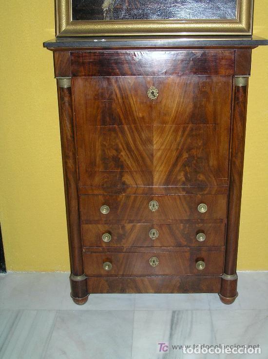 SECRETER IMPERIO, ÉPOCA REF.6147 (Antigüedades - Muebles Antiguos - Mesas de Despacho Antiguos)