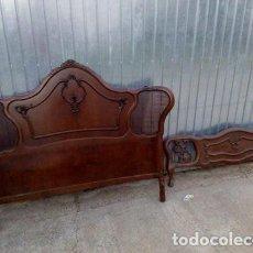 Antigüedades: CABECERO PIECERO CAMA THONET DORMITORIO. Lote 107051107