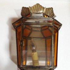 Antigüedades: FAROL CRISTALES COLORES. Lote 107051315