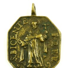 Antigüedades: PINJANTE DEL SIGLO XVII, MURCIA, NSTRA. SEÑORA DE LA FUENSANTA /SAN VICENTE FERRER. 4,3X6 CM.. Lote 107060255