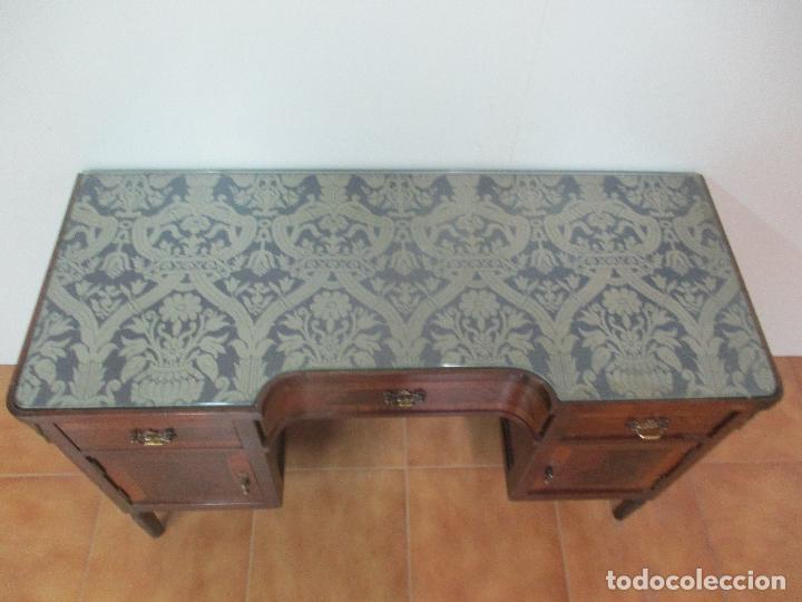 Antigüedades: Bonita Mesa, Tocador - Art Deco - Madera Caoba - Marquetería - Años 20 - Foto 14 - 107074595