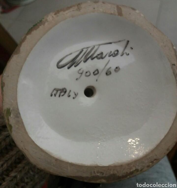 Antigüedades: MUY BONITA PAREJA DE GALLOS DE PORCELANA ITALIANA - Foto 10 - 107084075