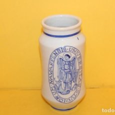 Antigüedades: ALBARELO DE CERAMICA DE TALAVERA - NAVARRENSIS UNIVERSITAS STUDIORUM - 17 CMS. Lote 107085039