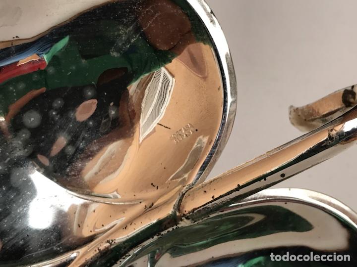 Antigüedades: BANDEJA DE ALPACA EN FORMA DE HOJA - Foto 6 - 107090944