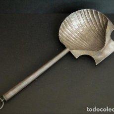 Antigüedades: INTERESANTE VENERA O CONCHA BAUTISMAL DE PLATA DE LEY PUNZONES MADRID CORTE SIGLO XVIII-XIX. Lote 107096487