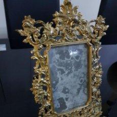 Antigüedades: PORTARETRATO BRONCE MARCO FOTO. Lote 107113319