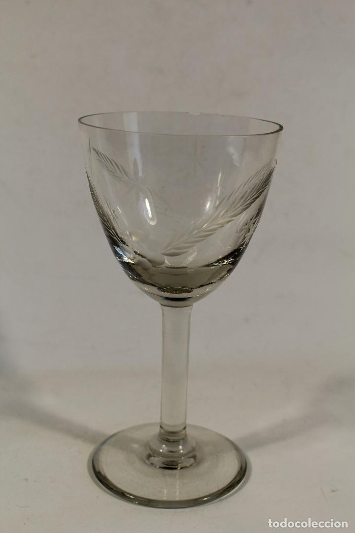 Antigüedades: copa en cristal de santa lucia - cartagena - Foto 5 - 107182711