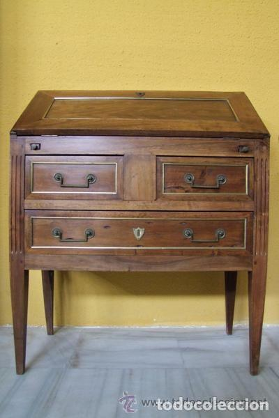 SECRETER LUIS XVI,NOGAL REF.6155 (Antigüedades - Muebles Antiguos - Mesas de Despacho Antiguos)