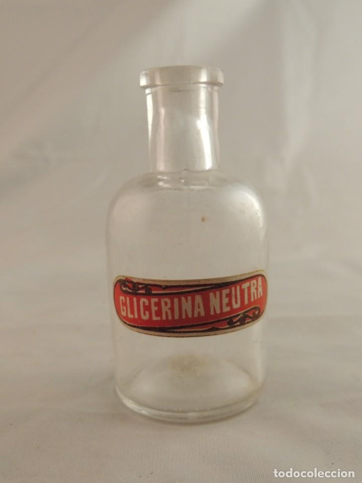 Antigüedades: BOTELLA CRISTAL GLICERINA NEUTRA - Foto 2 - 107234211