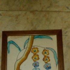 Antigüedades: AZULEJO BARROCO VALENCIANO DEL SIGLO XVIII. Lote 107252907