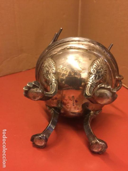 Antiquitäten: Precioso calientacopas - Calentador de copas de cognac , antiguo en alpaca plateada, con su copa - Foto 3 - 107253415