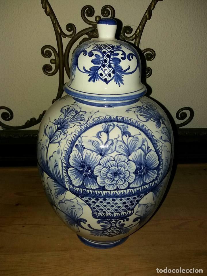 JARRON ANTIGUO VER (Antigüedades - Porcelanas y Cerámicas - Otras)