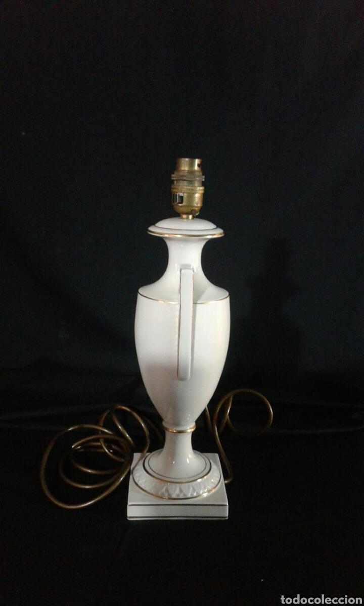 PIE DE LAMPARA DE PORCELANA DE SOBREMESA (Antigüedades - Iluminación - Lámparas Antiguas)