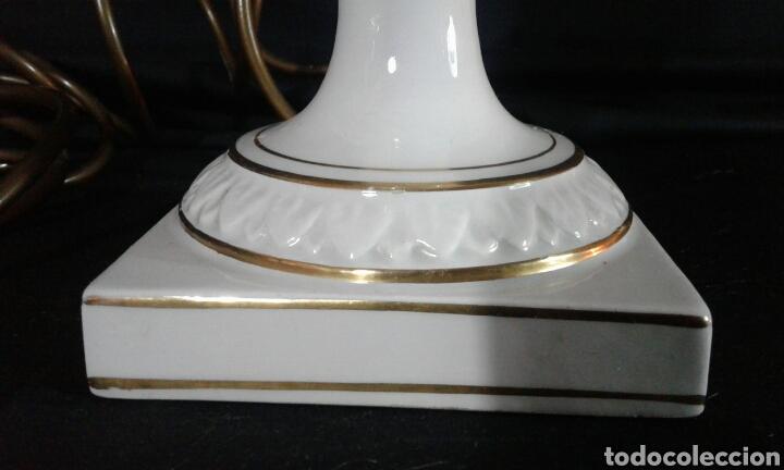 Antigüedades: PIE DE LAMPARA DE PORCELANA DE SOBREMESA - Foto 3 - 107274132