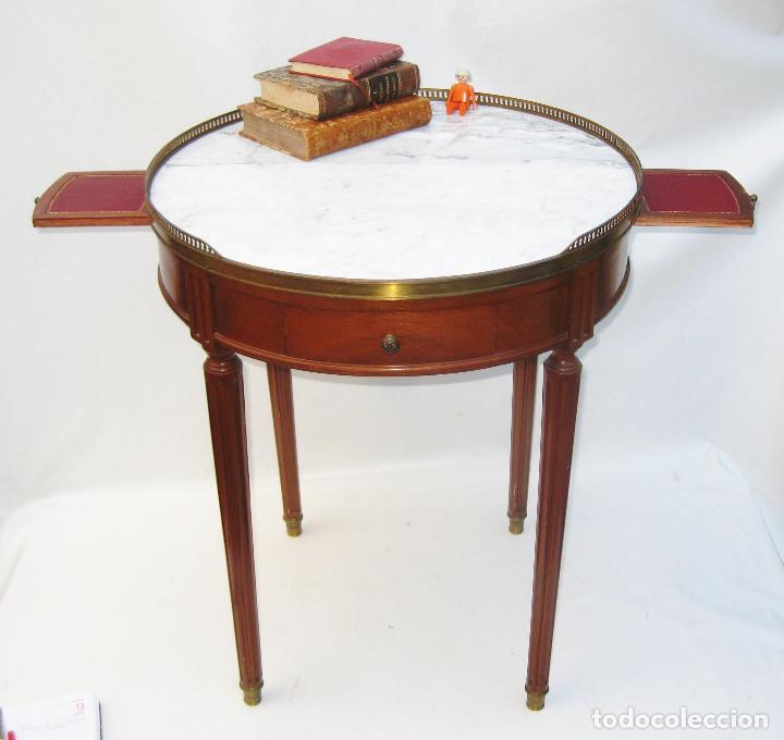 Muy elegante mesa antigua inglesa marmol y bron comprar mesas antiguas en todocoleccion - Mesita auxiliar sofa ...
