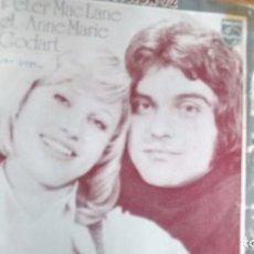 Discos de vinilo: SINGLE (VINILO) DE PETER MC LANE ET ANNE MARIE GODART (EUROVISION 1972). Lote 107301991