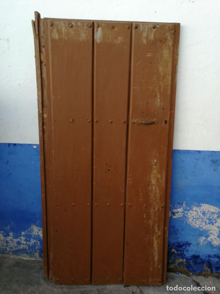 puerta antigua rustica de madera mide 83 cms an - Comprar ...