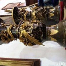 Antigüedades: PAREJA DE JARRONES CHINOS . Lote 107318791