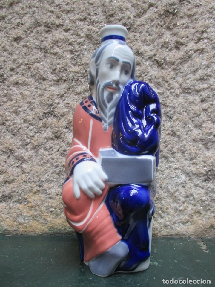 BOTELLA AGUARDIENTE PROFETA PORTICO DE LA GLORIA ' SAN LUCAS ' NUMERADA 1291/1993, INC CAJA + INFO (Antigüedades - Porcelanas y Cerámicas - Sargadelos)