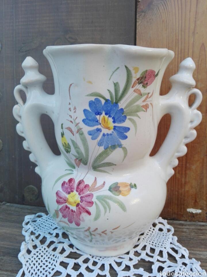 Antigüedades: Gran jarra de novia Murcia Ceramica Lario 26 cm - Foto 2 - 107351252