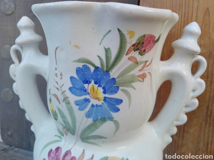 Antigüedades: Gran jarra de novia Murcia Ceramica Lario 26 cm - Foto 4 - 107351252