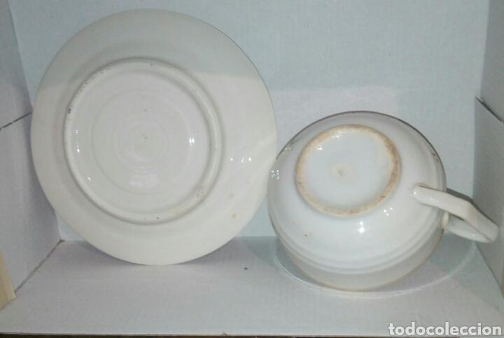 Antigüedades: Taza y plato porcelana - Foto 2 - 107355003