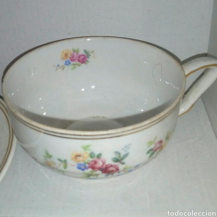 Antigüedades: Taza y plato porcelana - Foto 3 - 107355003