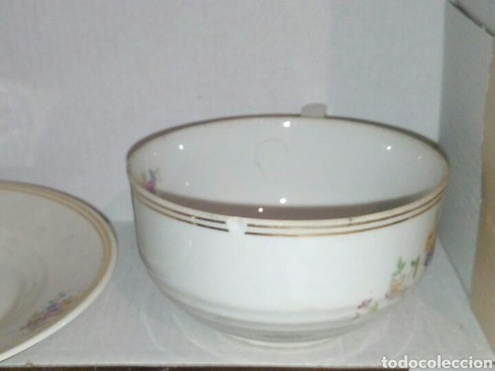 Antigüedades: Taza y plato porcelana - Foto 4 - 107355003
