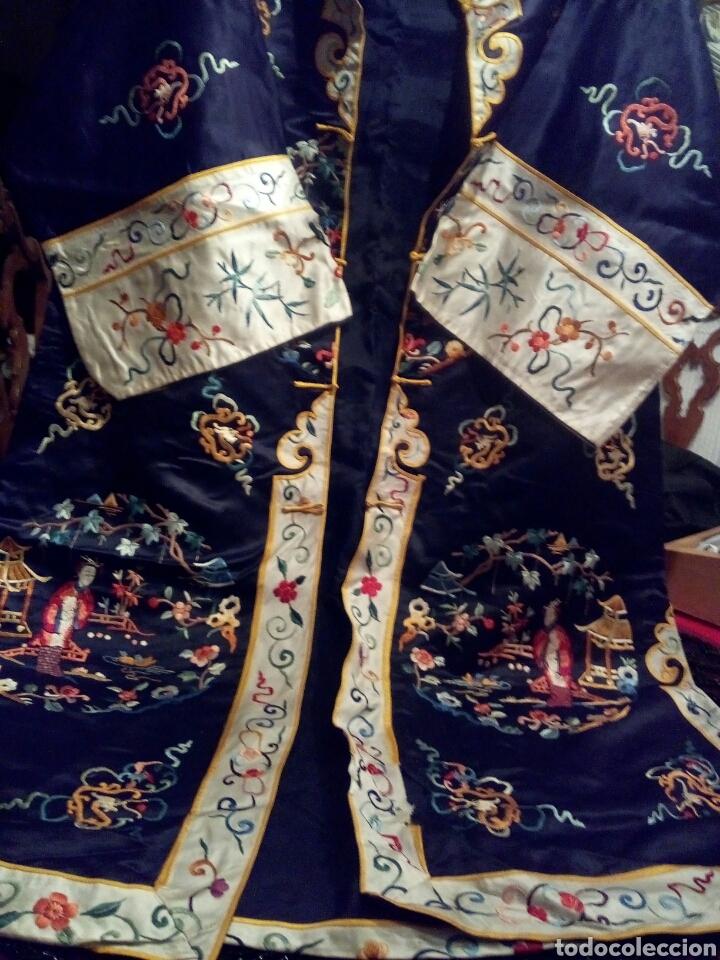 KIMONO BORDADO SEDA NATURAL (Antigüedades - Moda y Complementos - Mujer)