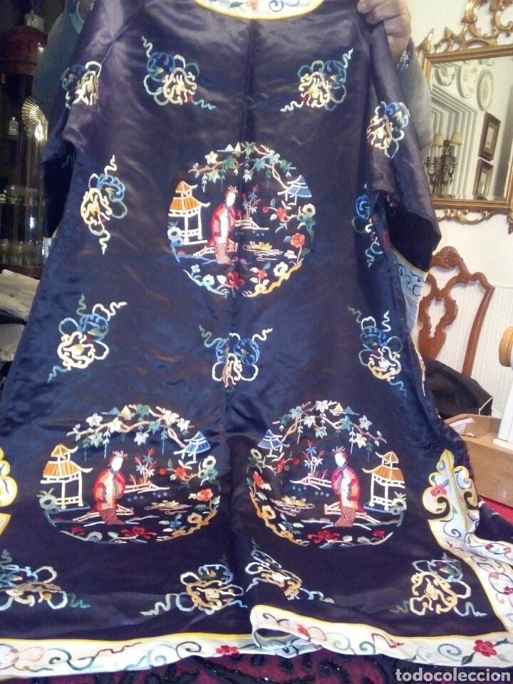 Antigüedades: Kimono bordado seda natural - Foto 2 - 107362271