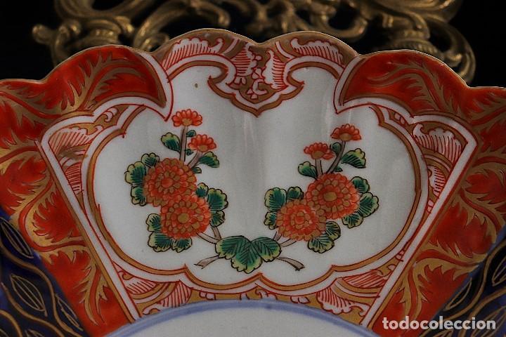 Antigüedades: antiguo plato de imari - Foto 5 - 107366643