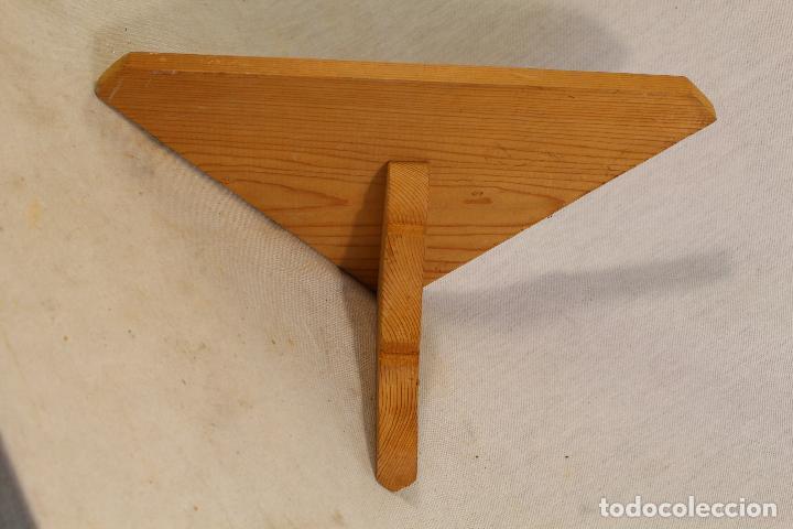 Antigüedades: repisa rinconera en madera de pino - Foto 5 - 107390287