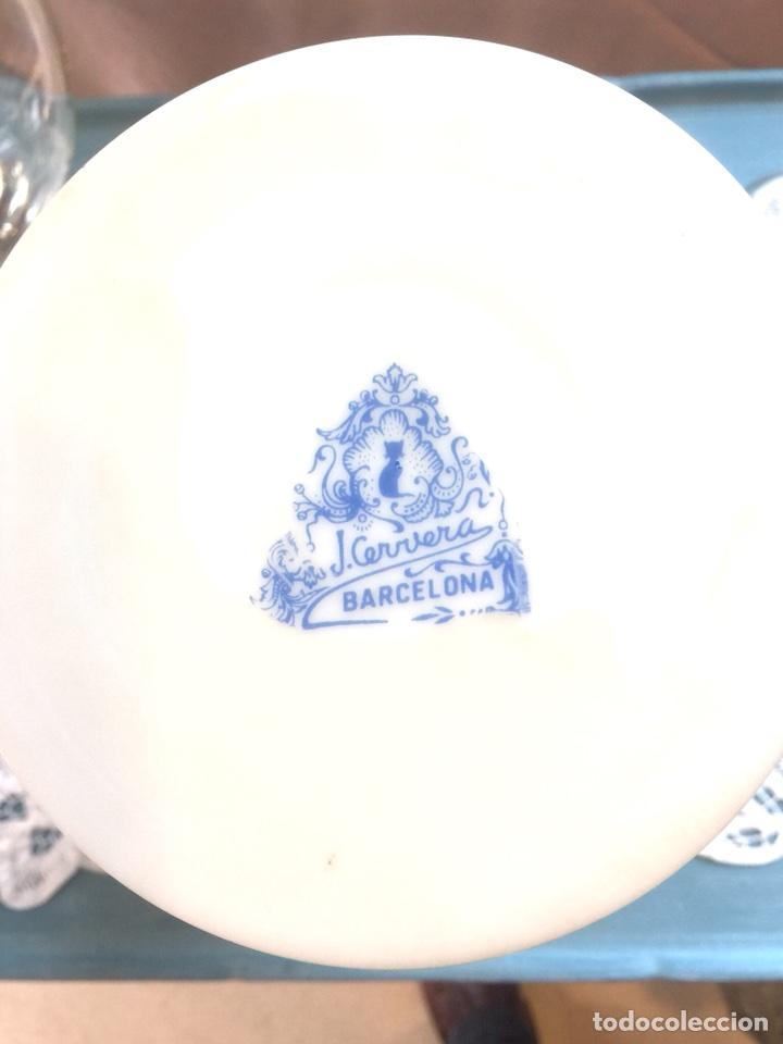 Antigüedades: Precioso jarron de opalina años 30/40, catalán. J. Cervera - Foto 4 - 107413992