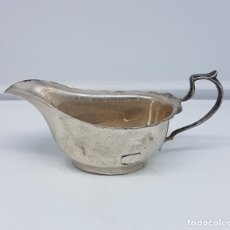 Antigüedades: SALSERA ANTIGUA ART NOUVEAU EN BRONCE BAÑADO EN PLATA DE LEY .. Lote 107415331