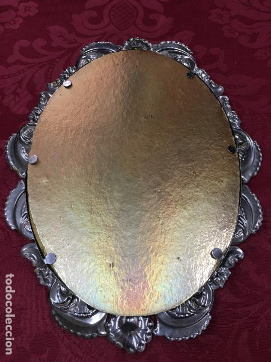 Antigüedades: PRECIOSO MARCO RELIGIOSO ORFEBRERIA - MEDIDA 30X23 CM - ROGAI PRO NOS - ALMADA PORTUGAL - Foto 7 - 107429743