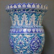 Antigüedades: JARRÓN DE CERÁMICA DE IZNIK. Lote 107464463