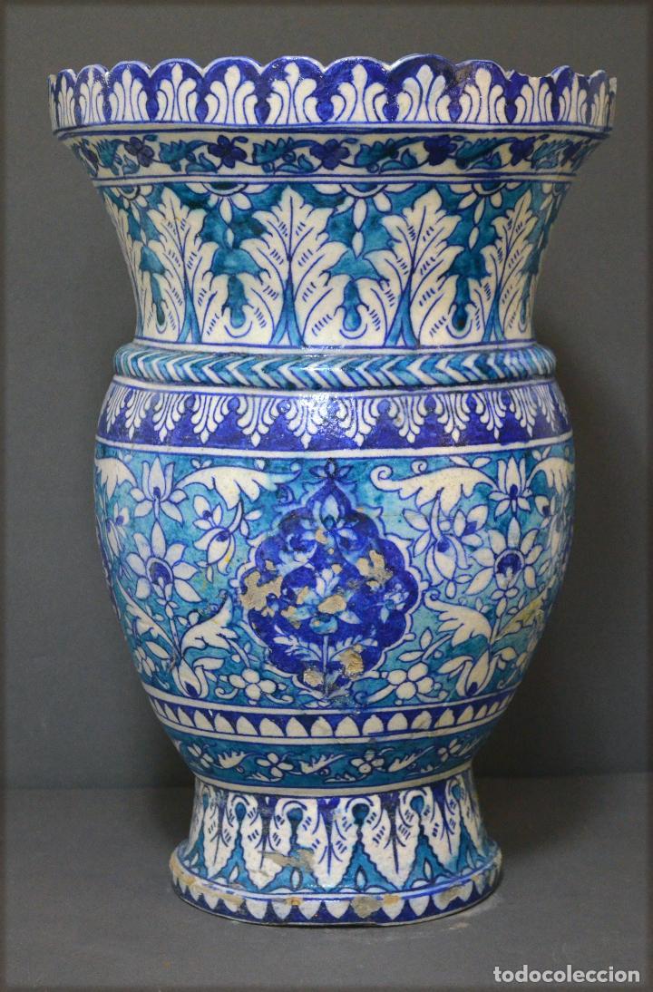 Antigüedades: Jarrón de cerámica de Iznik - Foto 3 - 107464463