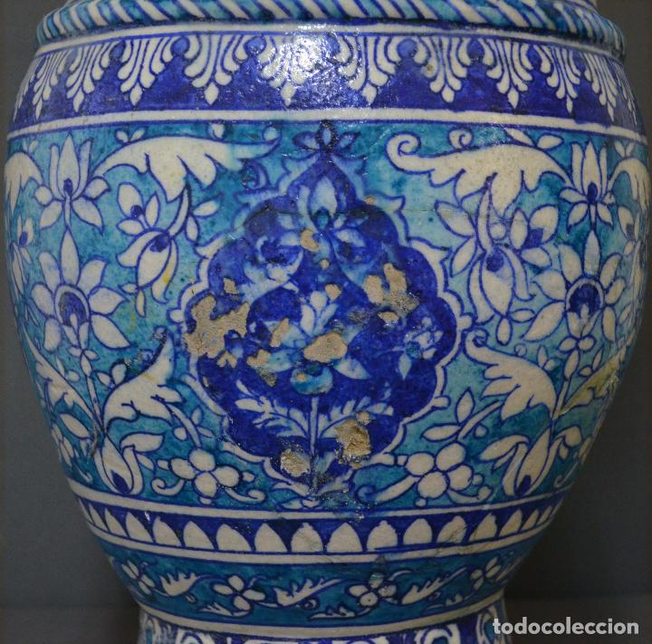 Antigüedades: Jarrón de cerámica de Iznik - Foto 4 - 107464463