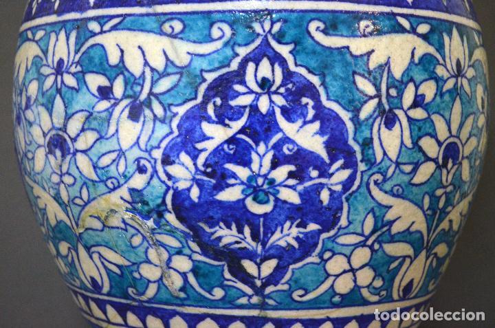Antigüedades: Jarrón de cerámica de Iznik - Foto 10 - 107464463