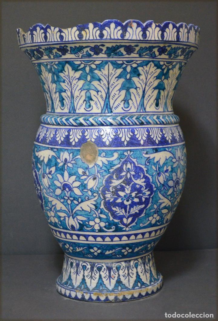 Antigüedades: Jarrón de cerámica de Iznik - Foto 12 - 107464463