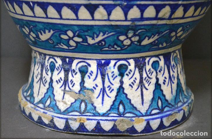 Antigüedades: Jarrón de cerámica de Iznik - Foto 14 - 107464463